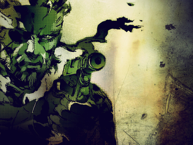 Обои пистолет, рисунок, metal gear solid, metal gear solid 3: snake eater
